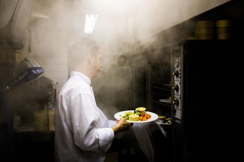 Cuisson vapeur dans une brasserie parisienne