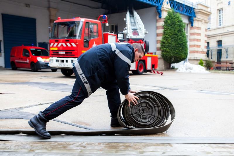 Avec les pompiers de Paris