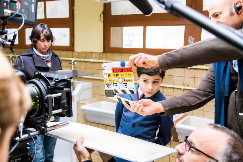 Sur le tournage du film Le Petit Nicolas