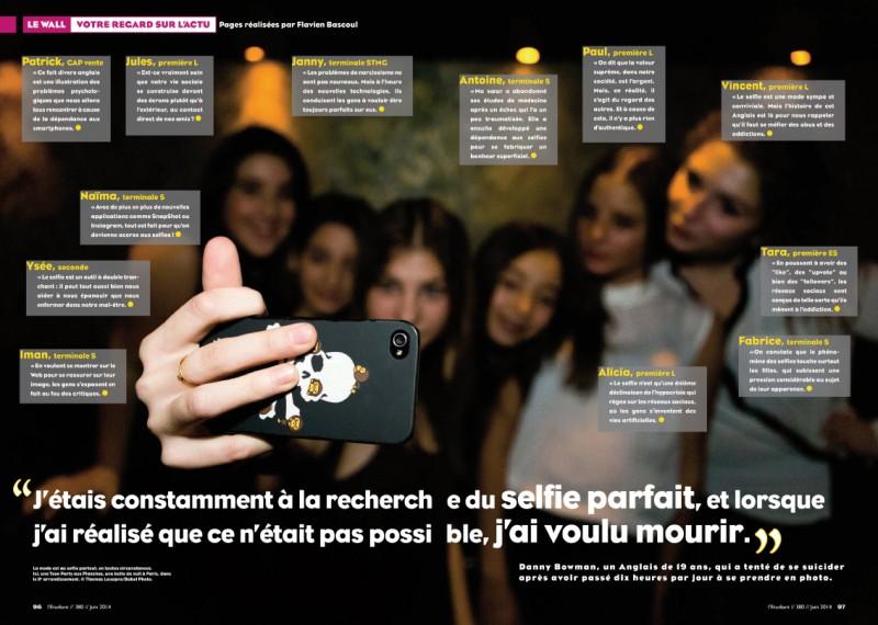 Double page dans le magazine L'Etudiant