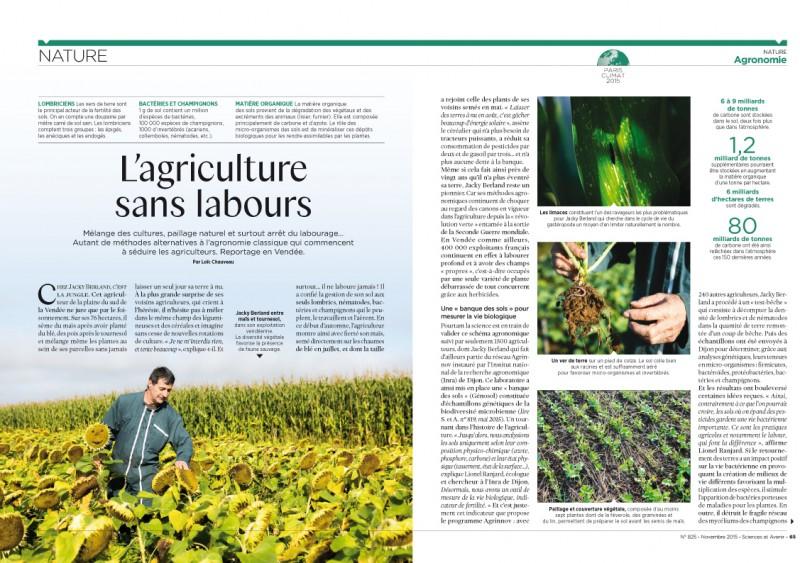 Reportage de 4 pages dans Sciences&Avenir