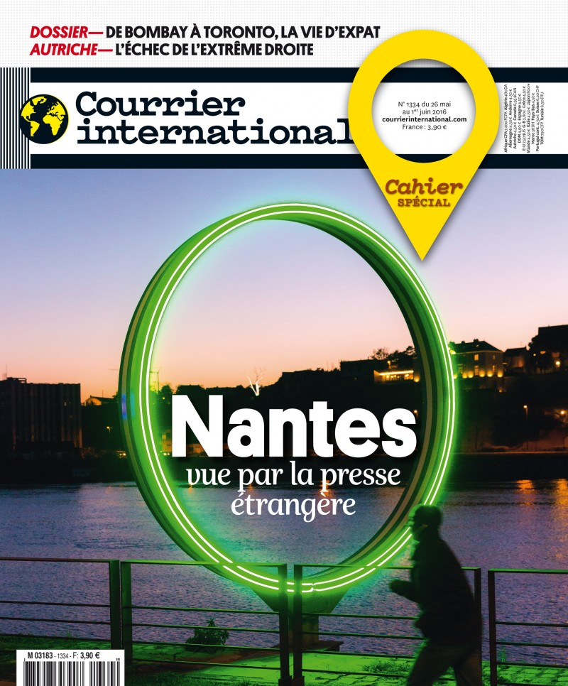 Reportage de 9 pages sur Nantes paru dans Courrier International